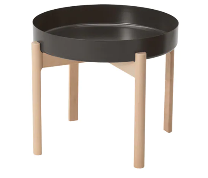 "**YPPERLIG Coffee table (dark grey, birch), $59, [IKEA](https://www.ikea.com/au/en/catalog/products/50346867/|target=""_blank""