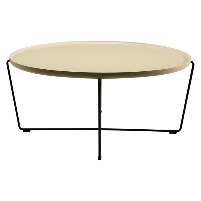 "**Becca Coffee Table in Yellow, $879, [Zanui](https://www.zanui.com.au/Becca-Coffee-Table-Yellow-135127.html|target=""_blank""