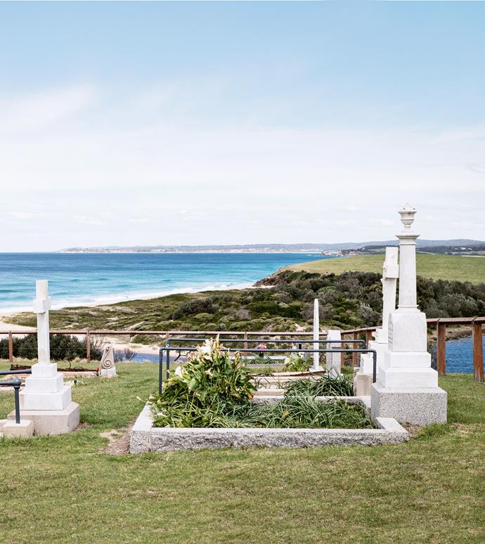A beachside cemetery at Central Tilba.