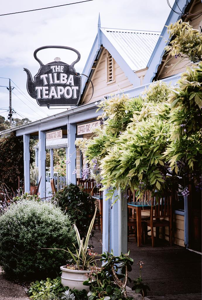 Sit on the verandah at The Tilba Teapot.