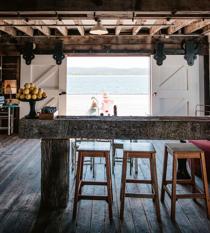 The Wharf Local in Tathra is a beachside cafe designed to hero both local produce and art.