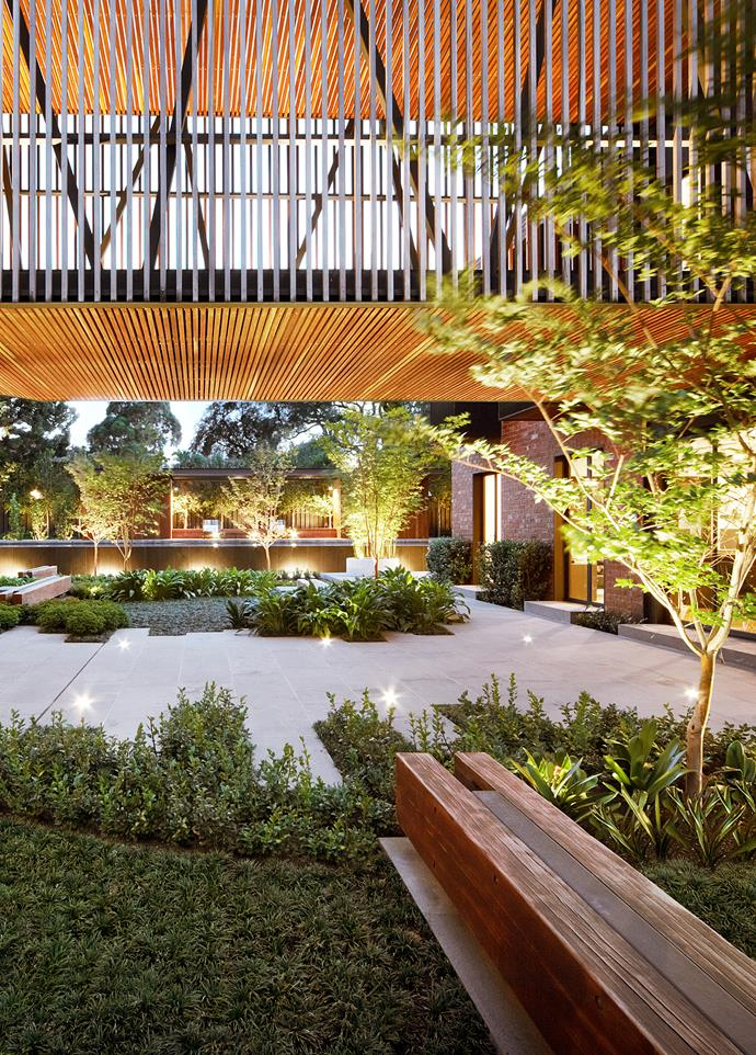 "Under the bridge in this Jack Merlo Design garden is planted with silver vein creeper and rock lilies, and a crepe myrtle. *Photograph*: Peter Clark. From the *[Belle Australian Landscape Designers](https://www.homestolove.com.au/belle-australian-landscape-designers-book-19878|target=""_blank"")* book."
