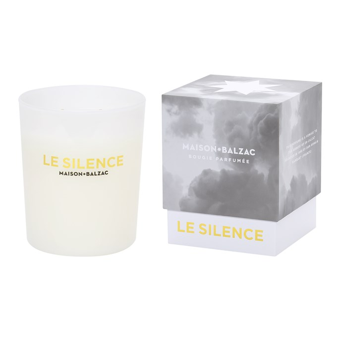 "Many scented candles are made with paraffin wax and synthetic fragrances which release toxic fumes when burnt. Not this one. Made from natural beeswax and infused with soothing rosemary, the 'Le Silence' candle by Maison Balzac is as pure as they come. <br><br>   'Le Silence' large candle, $69, [Maison Balzac](https://www.maisonbalzac.com/products/le-silence|target=""_blank""