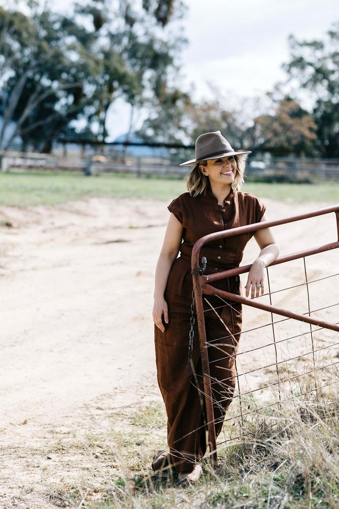 Edwina enjoys her time off at the farm.