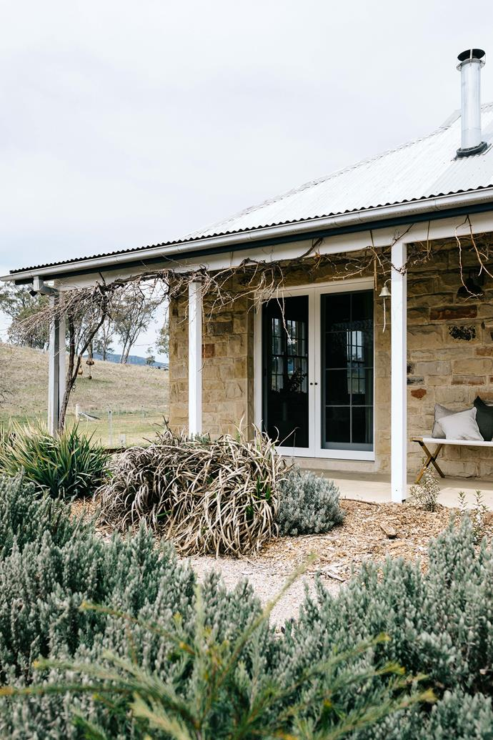 "The canvas stretcher on the verandah is from Provincial Home Living. The garden has to fend for itself most days while enduring blistering summers and frosty winters, so the couple sought advice about hardy, low-maintenance plants from native landscaping experts [Wariapendi Nursery](http://www.wariapendi.com.au/|target=""_blank""