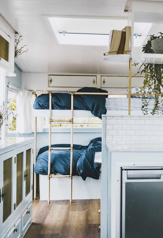 "Their [third caravan Dolly](https://www.homestolove.com.au/michael-carlene-caravan-renovation-dolly-19684|target=""_blank"") is the largest caravan they've renovated so far."