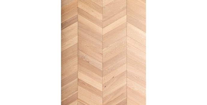 """'Architect Collection' White Smoked Chevron engineered-timber panels (305x1672mm), $164/m² (supply only) <p> This patterned chevron flooring features a layer of European oak on an engineered base for improved stability. It comes in panel form so you can install it with minimal time and fuss. [Royal Oak Floors](https://royaloakfloors.com.au/