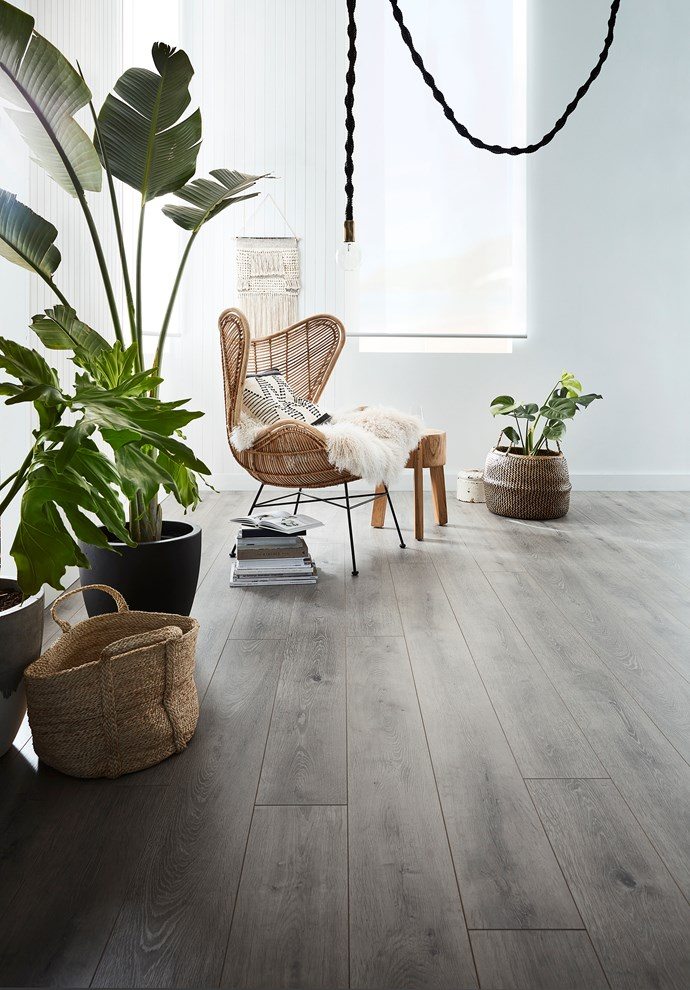 """Big Country laminate planks in Shale Grey, $39/m² (supply only)  Rustic grey timber flooring is bang on trend right now, particularly among those who love the Scandi aesthetic. Get the look for less with these affordable, robust and easy-to-maintain laminate planks, suitable for all rooms except wet zones. Click-lock installation makes this product great for DIYers. [Carpet Court](https://www.carpetcourt.com.au/?gclid=Cj0KCQjwg73kBRDVARIsAF-kEH89pYzKAzHU3gQph8l_GPOqDS_GrCBFoPR4oMQsGs8vN5Xvse3f1okaAk8lEALw_wcB