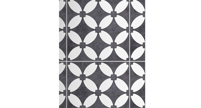 """'Templar Herald' textured-ceramic tiles in Charcoal (300x300mm), from $55/m² (supply only) <p> These stunning ceramic tiles will look fab in any style of home. Thanks to their textured surface, they can be used in rooms inside and out, including wet areas and verandahs. [Beaumont Tiles](https://www.beaumont-tiles.com.au/