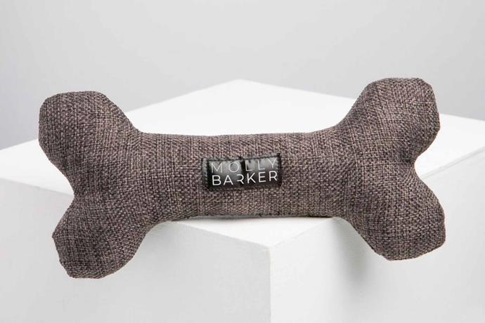 "'Barker Bone' toy bone, $20, [Molly Barker](https://mollybarker.com.au/|target=""_blank""|Rel=""nofollow"")."