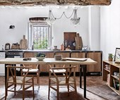 A restored Tuscan villa with rustic style