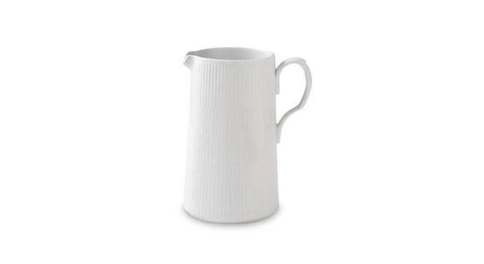 "Modern' fluted jug, $129, [royalcopenhagen.com.au](https://www.royalcopenhagen.com.au/|target=""_blank""|rel=""nofollow"")"