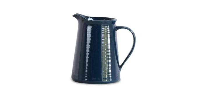 "Robert Gordon 'Conical' jug in Ink Blue Indigo, $70, [livingbydesign.net.au](https://livingbydesign.net.au/|target=""_blank""|rel=""nofollow"")"
