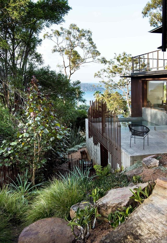 """The panoramic vistas from this hilltop home on Sydney's Northern Beaches are matched only by its glorious, [true-blue garden](https://www.homestolove.com.au/english-style-garden-in-northern-nsw-6080