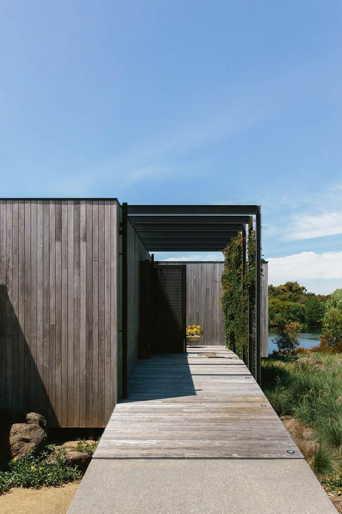 "[During the build](https://www.homestolove.com.au/modern-lake-house-design-13813|target=""_blank""), owner Imogen Tutton studied horticulture — she has a background in law and advertising — and so before they did anything she came every day and started laying out the garden. ""I was on quite a native garden mission and I had this beautiful canvas to do it on, so it was my shovel, my mower, and my dog and me, bit by bit."""