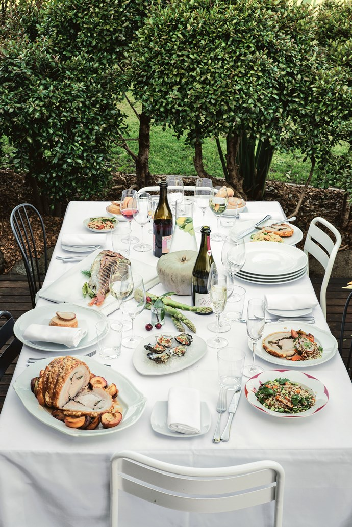 "A celebratory feast at [St Isidore](https://www.gourmettraveller.com.au/dining-out/restaurant-reviews/st-isidore-7010|target=""_blank"") where the philosophy of garden-to-plate rules."