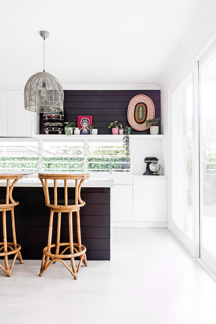 Pendants provide task lighting above a kitchen island while making a design statement. *Photo:* Maree Homer / *bauersyndication.com.au*