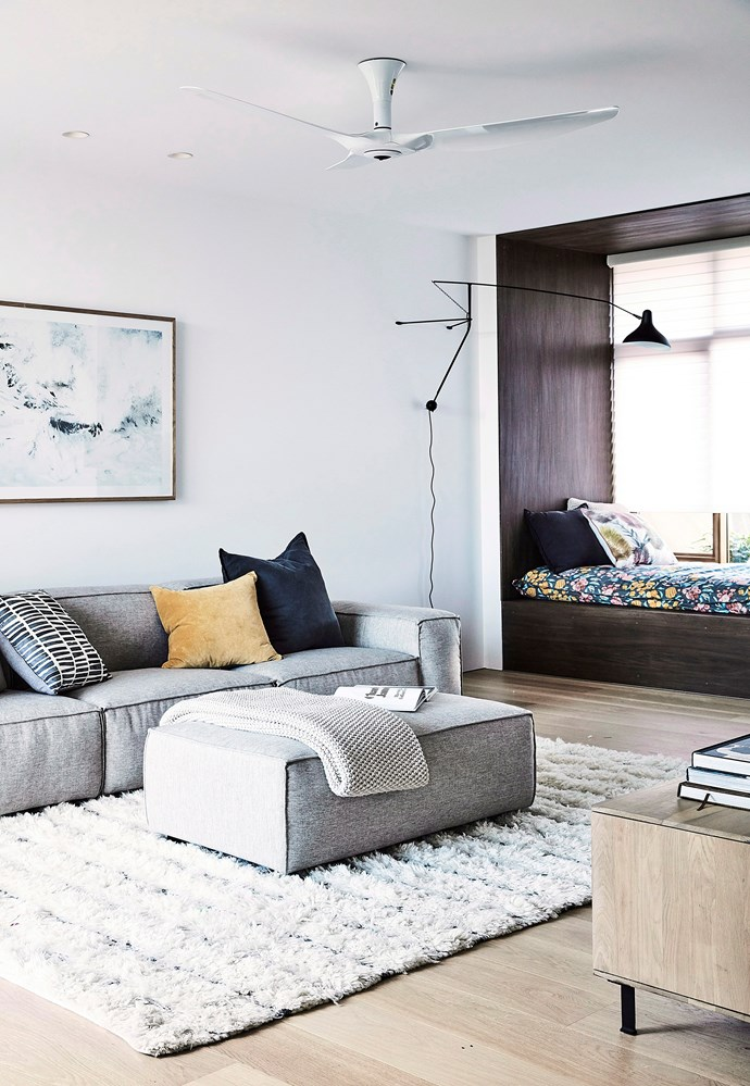 "**Introduce texture to a neutral palette:** If you're thinking of sticking to one main colour (for example white or grey), mix things up with [texture and pattern](https://www.homestolove.com.au/how-to-add-texture-to-your-home-7046|target=""_blank""). Think leather, sisal, linen and other natural materials, as well as textural artwork, rugs and lighting. *Photo:* Maree Homer / *bauersyndication.com.au*"