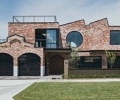 This industrial-style brick house in Perth is inspired by heritage factories