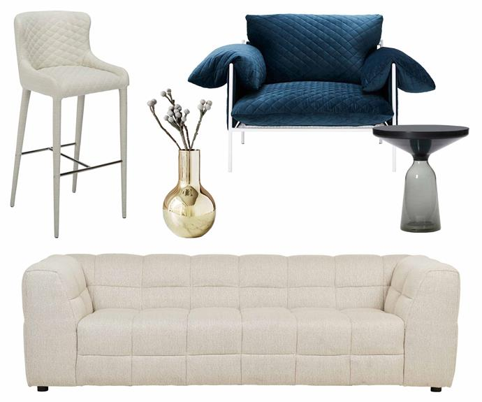 """**Family friendly** When you have young kids, it's still possible to have durable pieces of designer quality. **Get the look** (clockwise from left) 'Saxon' bar stool, $255, [Coco Republic](https://www.cocorepublic.com.au/