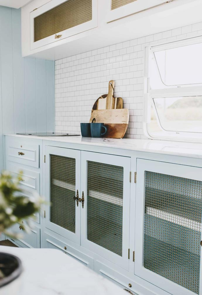 """In their [third caravan renovation, Dolly](https://www.homestolove.com.au/michael-carlene-caravan-renovation-dolly-19684