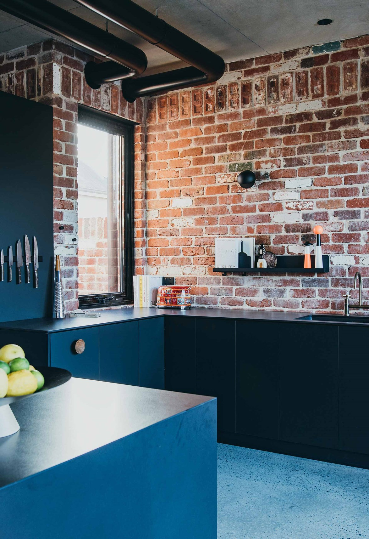 """**INDUSTRIAL**<p> <p>According to interior designer Darren James, an [industrial style home](https://www.homestolove.com.au/how-to-incorporate-an-industrial-look-at-home-3740
