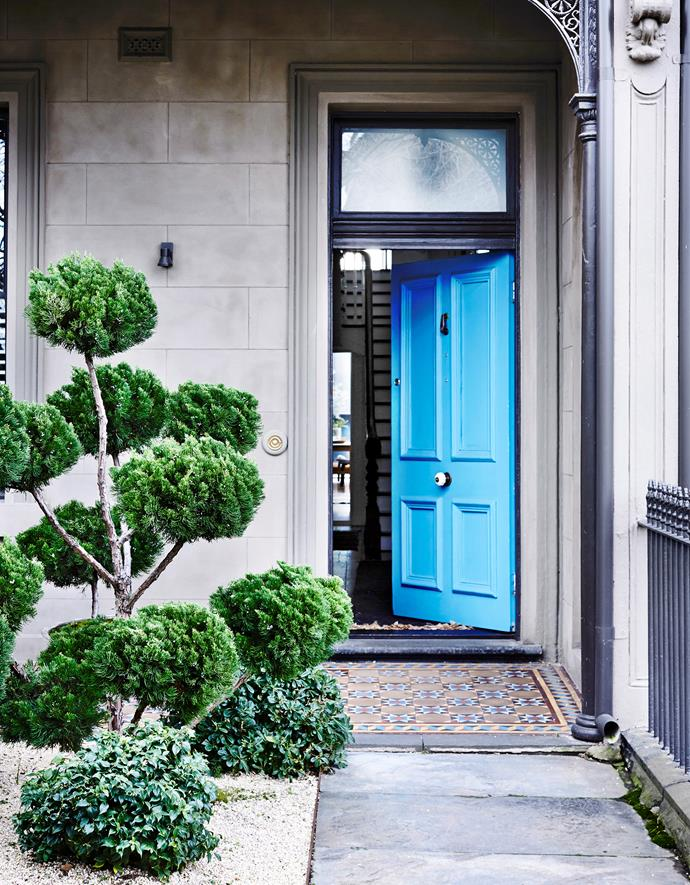 The front door of this Victorian terrace has been painted in Porter's Paints 'Westport Blue' courtesy of owner/architect Annick Houle. *Photograph*: Derek Swalwell.