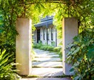 A semi-formal garden restoration reflecting a historic home