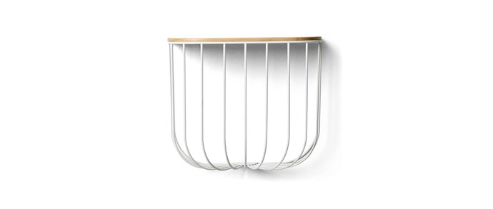 "Menu FUWL powdercoated-metal and ash cage shelf (42x17x35cm), $220, [Leo & Bella](https://leoandbella.com.au/|target=""_blank""