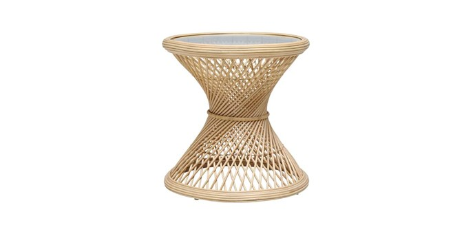 "Grand Peacock rattan side table, $329, Oz Design Furniture; [ozdesignfurniture.com.au](https://ozdesignfurniture.com.au/|target=""_blank""