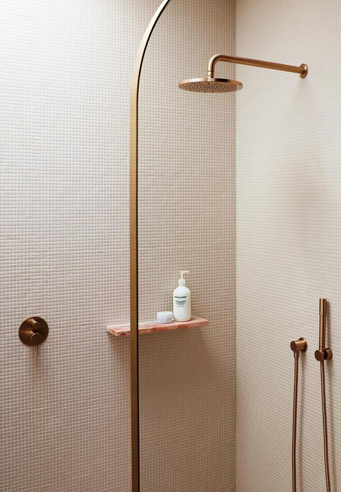 Tapware Basin set in brushed Rose Gold from Brodware.