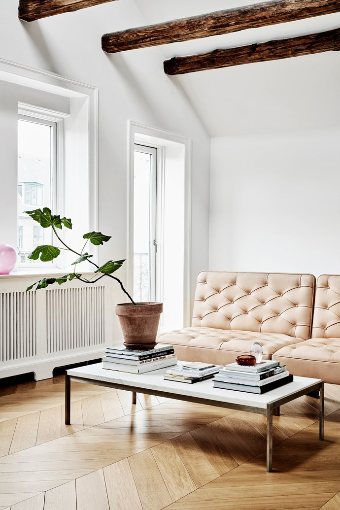 To make miscellaneous buys look right in your home, group like items together. For example, artworks on a gallery wall or books on a coffee table.