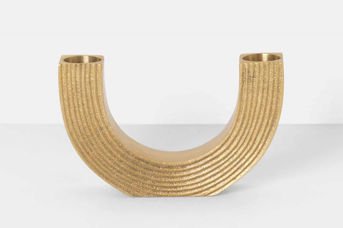 "Ferm Living 'Arch' candle holder (excludes candles), $209, [Designstuff](https://www.designstuff.com.au/|target=""_blank""