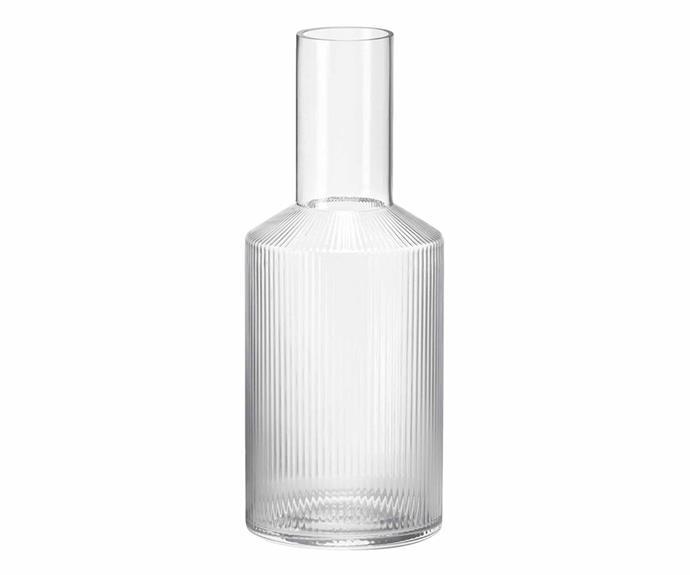 "Ferm Living 'Ripple' carafe, $79, [Designstuff](https://www.designstuff.com.au/|target=""_blank""|rel=""nofollow"")."