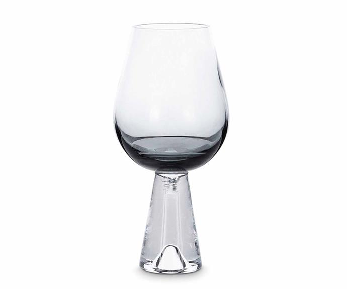 "Tom Dixon 'Tank' wine glasses, $160/pair, [Top3 By Design](https://top3.com.au/|target=""_blank""|rel=""nofollow"")."