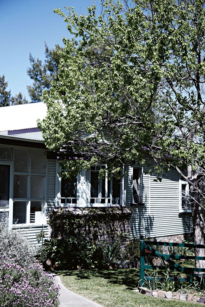 The weatherboard cottage the O'Connell's call home.