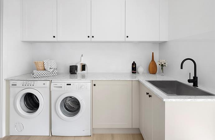 "With ample storage, a clean colour palette and tasteful finishes, this modern laundry serves as a great selling point in this home. *Image: [supplied](https://www.kaboodle.com.au/|target=""_blank""