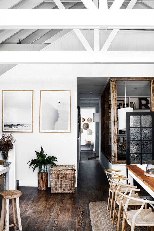 "Built from scratch in just 10 weeks, the interior of this [modern barn-style house](https://www.homestolove.com.au/modern-barn-style-house-19961|target=""_blank"") is filled with character. The flooring, which looks like distressed timber, is actually vinyl in the colour 'Hessian Oak' by [Floorstyle in Ulladulla](https://australianfloorstyle.com.au/stores/floor-style-ulladulla/