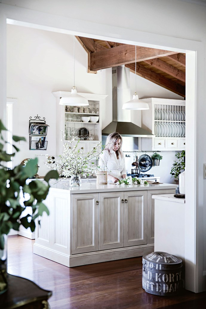"""""""I love the kitchen,"""" Heidi says. """"It's a unique space with loads of natural light, which makes it a joy to be in."""""""
