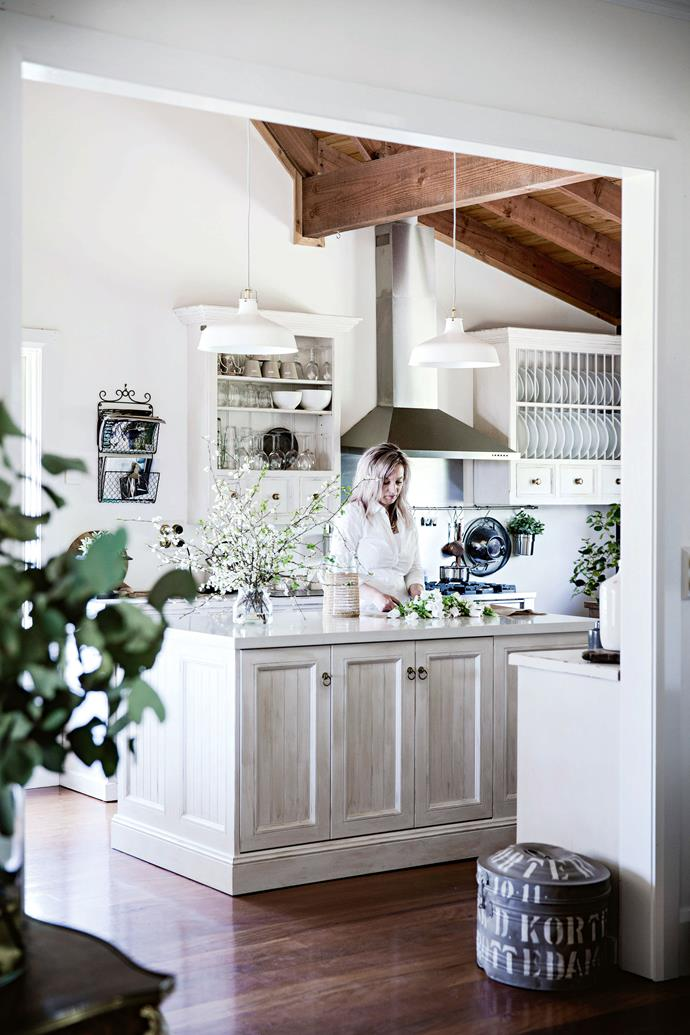 """I love the kitchen,"" Heidi says. ""It's a unique space with loads of natural light, which makes it a joy to be in."""