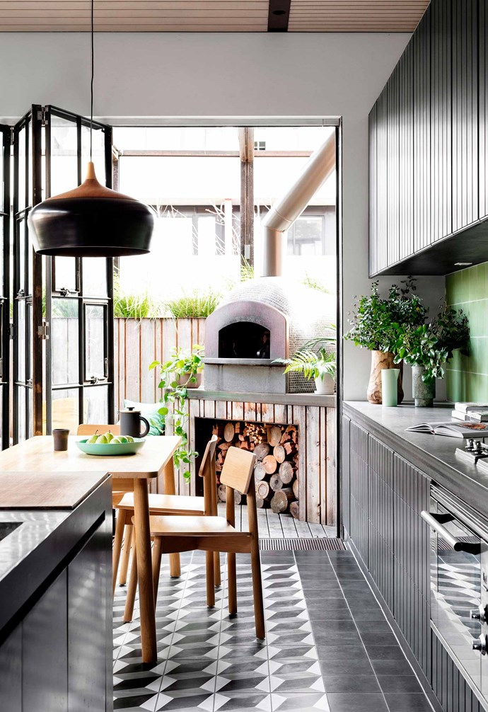 **Tile perfection** The tiled kitchen and dining space in this home makes for easy cleaning. *Photography: Luisa Dawai / bauersyndication.com.au*