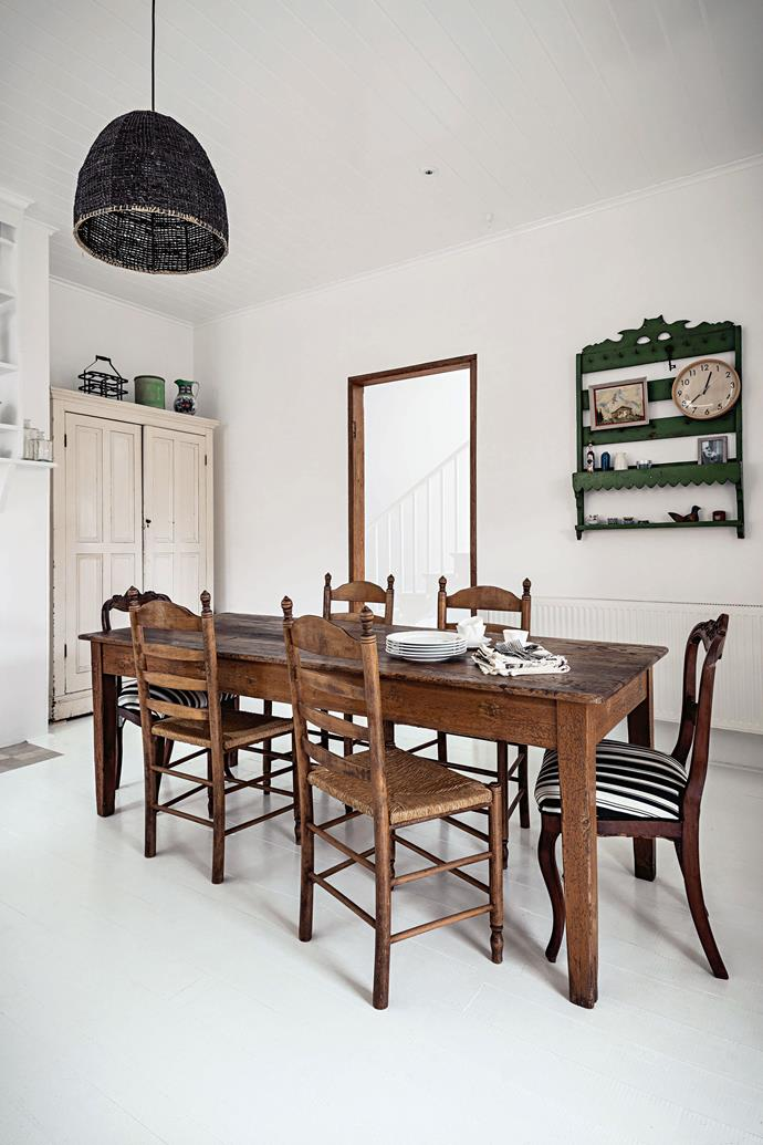 """Much of the furniture in artist Kate Litchfield's heritage-listed [Georgian-style townhouse](https://www.homestolove.com.au/layered-and-luxe-georgian-style-mansion-3608