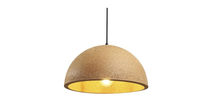 "'Dome' cork pendant light, from $169, [By Living](https://www.byliving.com.au/dome-cork-pendant-light|target=""_blank""
