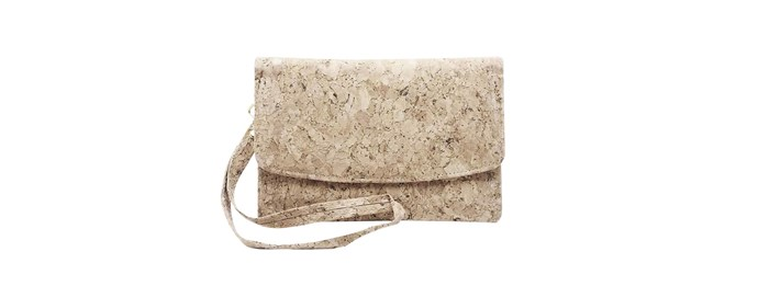 "Emily' recycled cork trifold wallet in Classic, $65, [By The Sea](https://bytheseaco.com/products/dora-short-cork-wallet|target=""_blank""