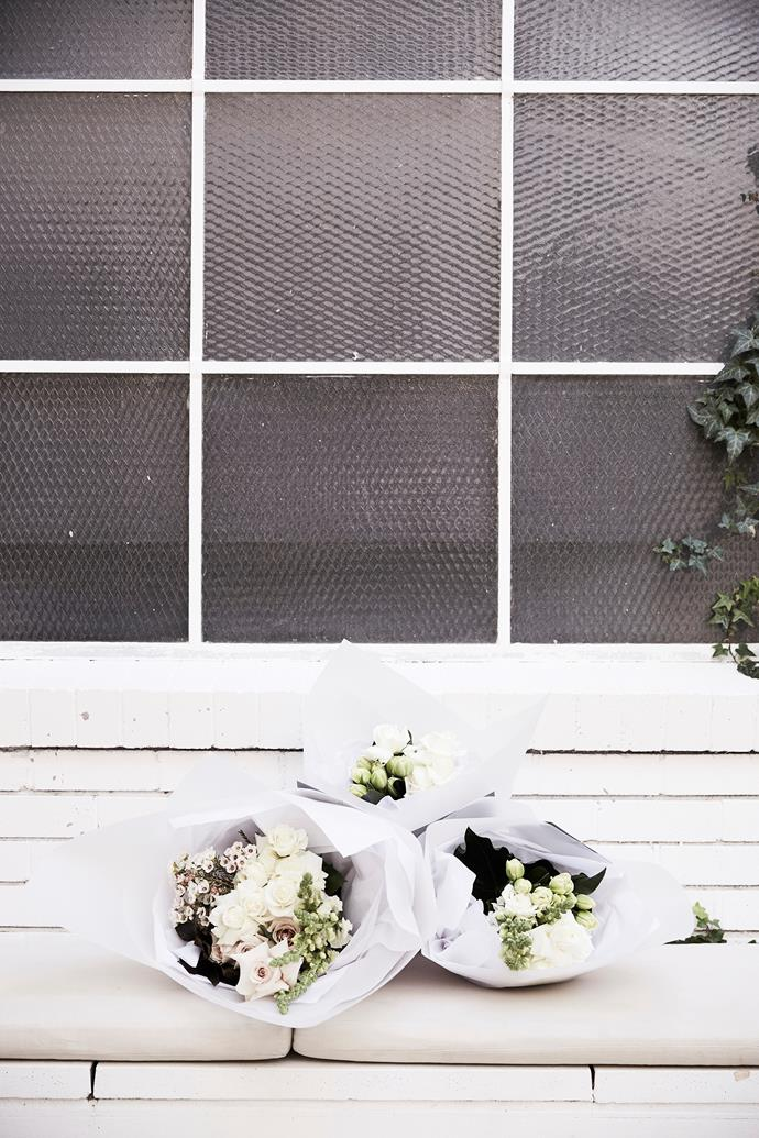 Working within a tight palette – like MyFlowerMan's signature whites and greens – creates visual impact.