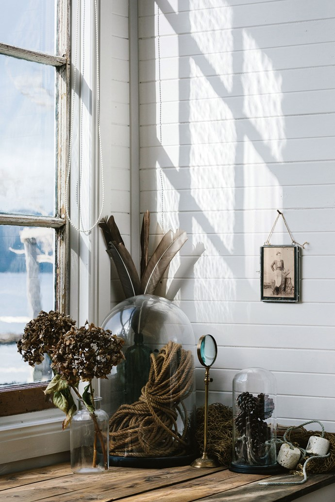 Sarah scoured Tasmania for quirky items for the cottage.