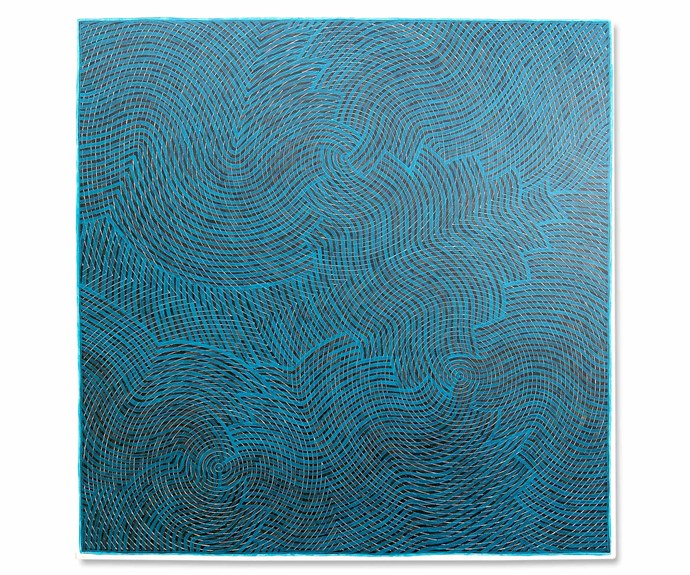 *Gaagal - Blue*, acrylic on canvas, Otis Carey.