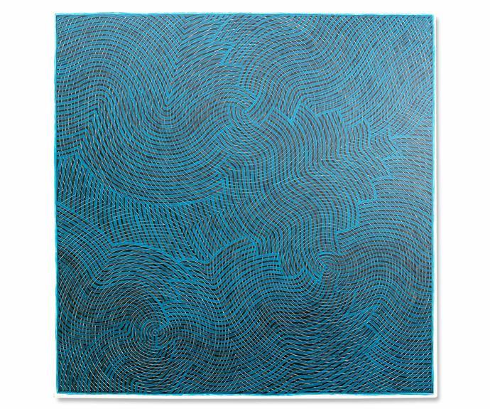 *Gaagal - Blue*, acrylic on canvas, Otis Carey.