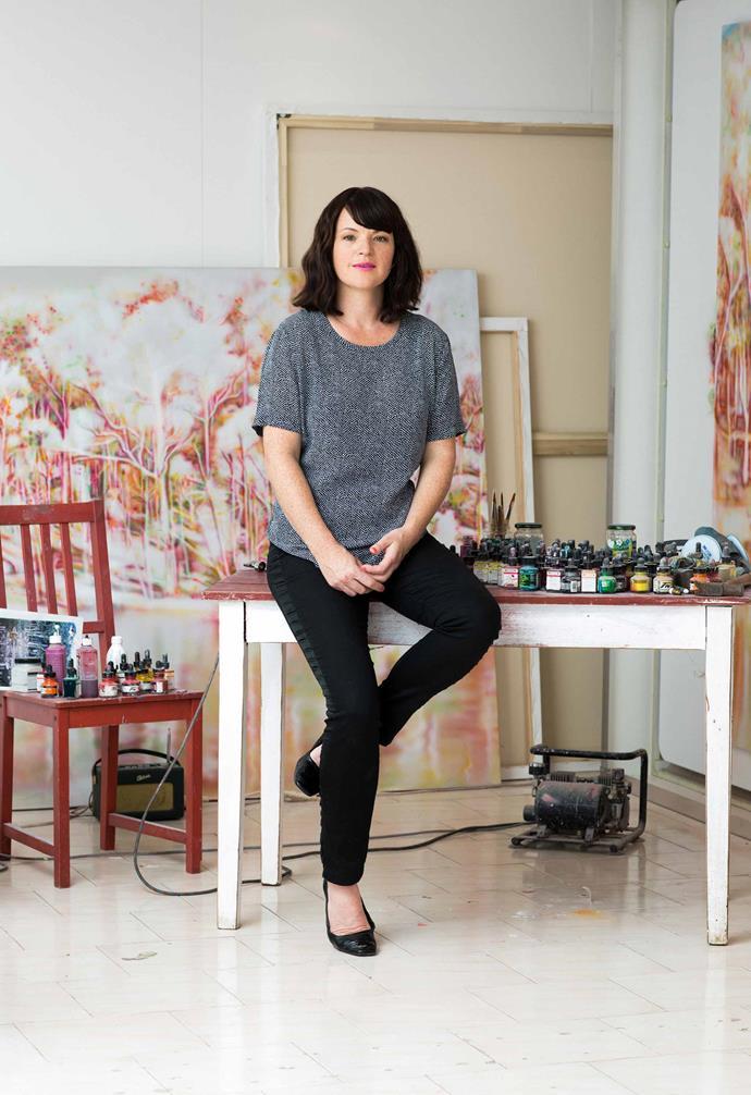 Fiona Lowrey in her studio. *Photography: Jo Casamento*.