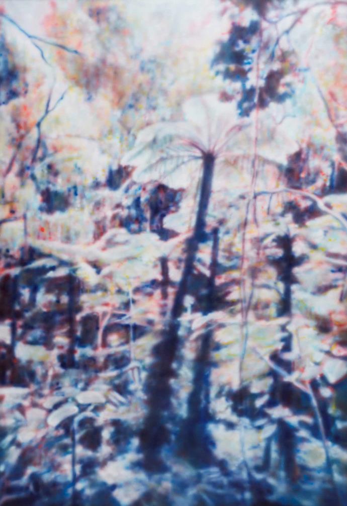 *A Silence*, 2018, acrylic on canvas, Fiona Lowry.